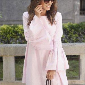Zara pink striped romper